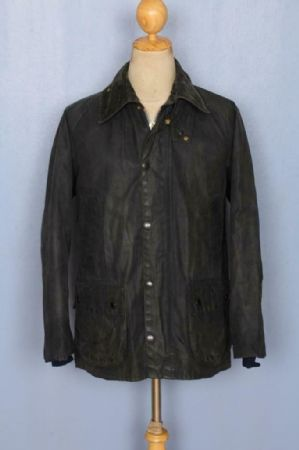 BARBOUR Bedale Waxed Jacket Navy Size 38 Medium